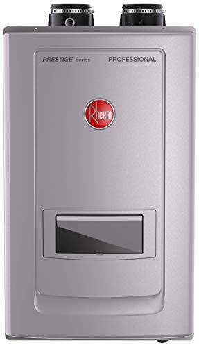 Rheem RTGH-RH11DVLN Prestige Series Professional Condensing Tankless Gas Water Heaters With Built-in Recirculation, Gray