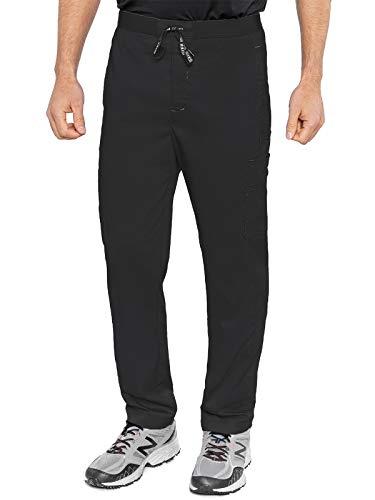 Med Couture RothWear 7779 Men's Hutton Straight Leg Scrub Pant, Black, Large