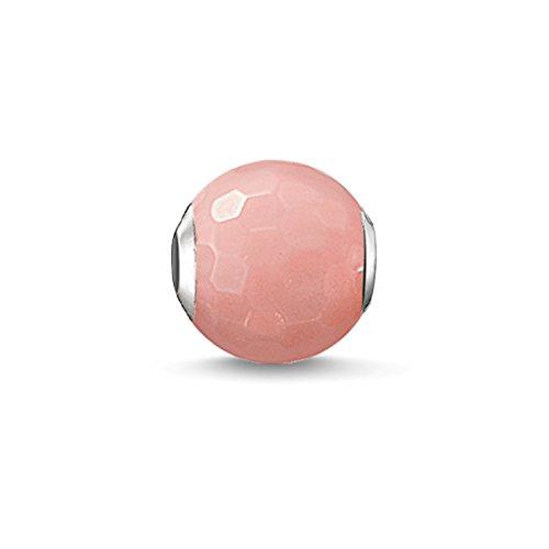 Thomas Sabo Damen-Bead Pinke Bambuskoralle Karma Beads 925 Sterling Silber pink rosé K0128-590-9