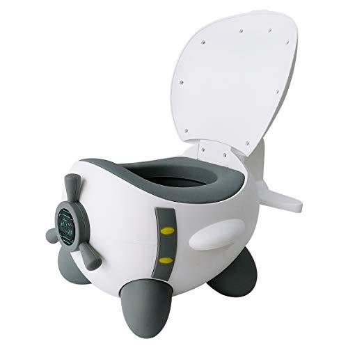 Glenmore Vasino per Bambini WC Toilette per Bambino Portatile da Viaggio Mini Vasetto Water Sedia Orinatoio per Bimbo Bimba, Grigio bianco