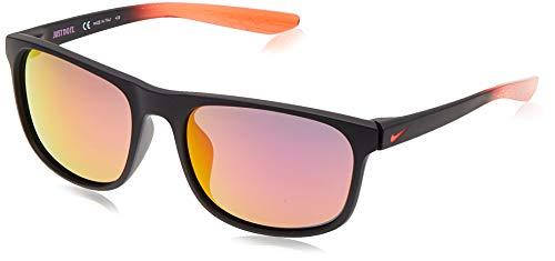 Nike Herren Sonnenbrille Endure M Kunststoff Schwarz/Rot/Blau, Fassungstyp: Vollrand, Bügellänge: 135mm, CW4650-015