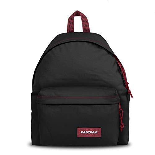 Eastpak Padded Pak'r Mochila, 40 cm, 24 L, Negro (Blakout Strip Red)