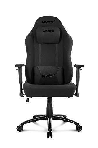 AKRacing Gaming Chair Opal Gamingchair, Kunstleder, Office Obsidian Schwarz, Normal