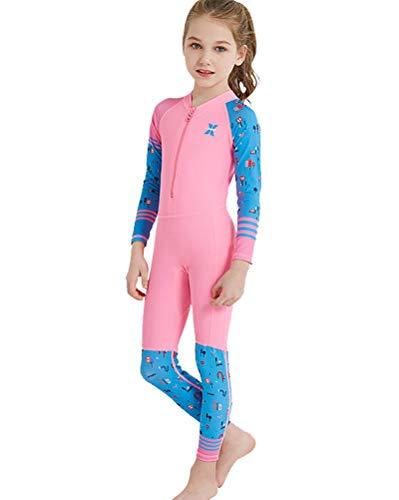 Daoba Kinder Neoprenanzug Sommer Mädchen Jungen Schwimmanzug One Piece Badeanzug Schwimmen UV-Schutz Strand Schnell Trocknend Atmungsaktiv