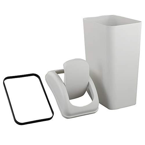 Ikando 14 L Basurero Cubo de Basura Papeleras Habitacion Papelera de Cocina Baño Con Tapa Basculante, Plástico, 1 Unidad