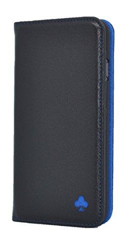 Porter Riley – Custodia per iPhone 8 Plus/iPhone 7 Plus. Custodia/Flip/Cover/Supporto/in Vera Pelle Sottile di Prima qualità. (Nero, Blu)