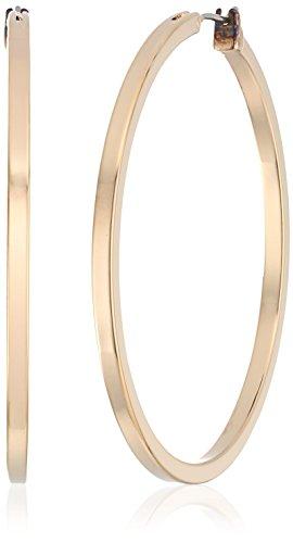 "GUESS ""Basic"" Gold Square Edge Hoop Earrings"
