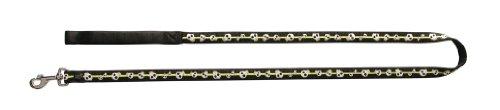 dogit Style Hundeleine, Nylon, mit Komfortgriff, elektrischer Totenkopf, Limettengrün auf Schwarz
