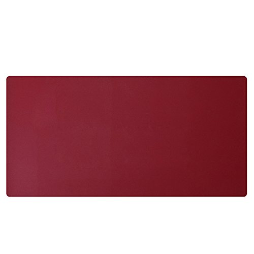 """KINGFOM Desk Mat Pad Blotter Protector 47.2"""" x 23.6"""", PU Leather Desk Mat Laptop Keyboard Mouse Pad with Comfortable Writing Surface Waterproof (Wine Red)"""
