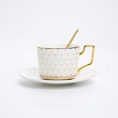 Copa De Vino Taza De Café Tazanordic Bone China Coffee Cup Saucer Spoon Set 200Ml British Cafe Porcelain Tea Cup Advanced Ceramic Teac