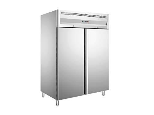 Hakka 1150L Double Door Upright Freezer Commercial Refrigerator Temperature :-18~-22℃