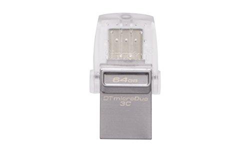 Kingston DataTraveler microDuo 3C DTDUO3C/64GB USB 3.0/3.1 Type-A e Type-C,Argento