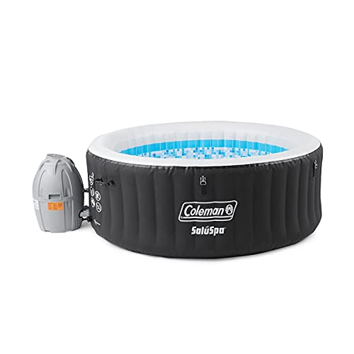 Coleman 13804-BW SaluSpa 4 Person Portable Inflatable Outdoor Round Hot Tub Spa with 60 Air Jets, Tub Cover, Pump, and 2 Filter...