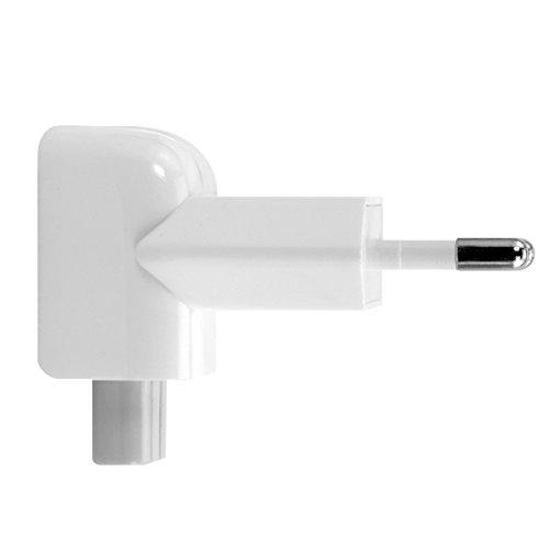 kwmobile EU 2 Pin Duckhead Adapter kompatibel mit Apple iPad 10W & 12W & MacBook Magsafe 1 & 2 Ladegeräte Power Adapter - Power Plug
