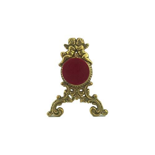 artigianatodaloise - Taschenuhrenhalter für den Schreibtisch aus poliertem Messing - Uhrenhalter 2