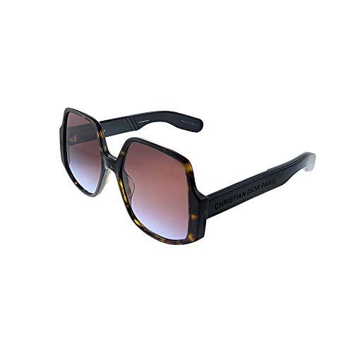 Dior Sonnenbrille DIORINSIDEOUT1 086/YB havana braun-größe 57-mm-brillen-frau