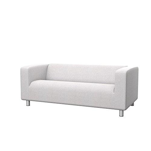 Soferia - IKEA KLIPPAN Funda para sofá de 2 plazas, Naturel White