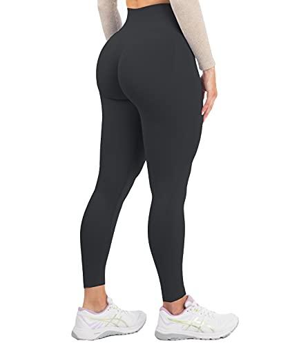 DUROFIT Leggings Sportivi da Donna Push up Pantaloni Anticellulite Vita Alta Yoga Pants Elastico Fitness Palestra Calzamaglie e Leggings Sportivi Nero S