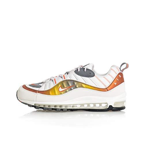 Nike Air Max 98 Se Mens Casual Running Sneaker Cd0132-002, Blanco (Gris Vasto/Summit White-Team Naranja), 40 EU