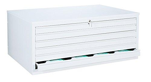Weißer DIN A 0 Zeichnungsschrank Flachablageschrank Grafikschrank Planschrank Architektenschrank 6 Schubladen Stahl 565317 Signalweiß RAL 9003