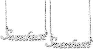 Utkarsh (Set Of 2 Pcs) Silver Color Fancy & Stylish Trending Valentine's Day Special Metal Stainless Steel Sweetheart Name...