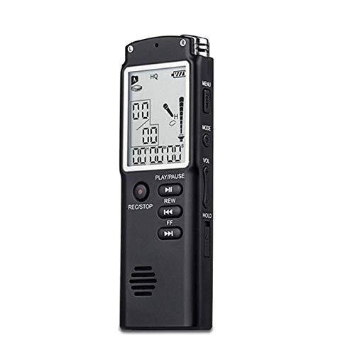 LYB 16G Grabadora de Voz Digital Portátil, HD Grabadora Audio, Lápiz Grabador Activado por Voz Reproductor MP3 HD 1536 Kbps con Función de Reproducción Externa para Conferencias, Entrevistas