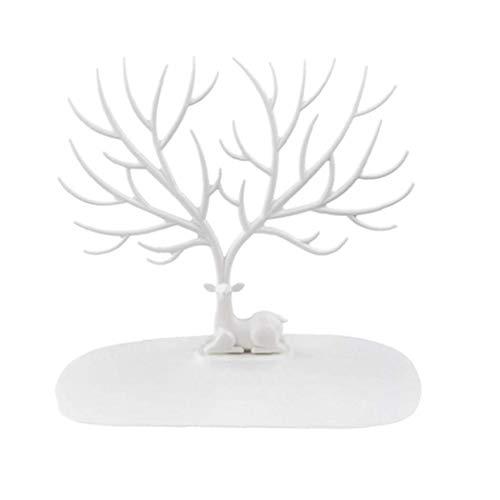 Árbol de la joyería estante del soporte de joyería creativa asta de árbol en forma de pendientes colgantes del organizador del almacenaje de la joyería collar de soporte de exhibición del Puntales 1PC