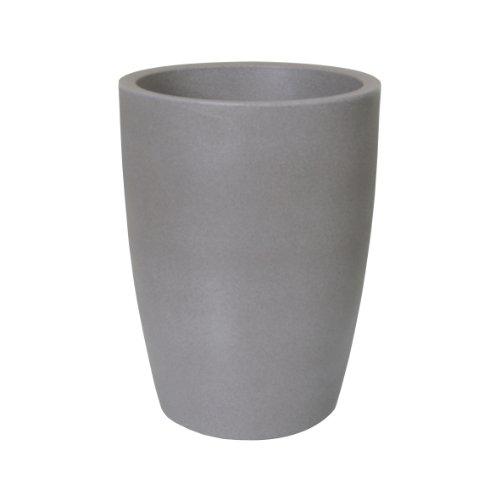 Preisvergleich Produktbild PP-Plastic Blumentopf Verona,  Kunststoffbehälter für Pflanzen,  Pflanzkübel für Innen- und Außenbereich,  in taupe mit Granitoptik,  wetterfester Übertopf mit einem Füllvolumen von ca. 21 l