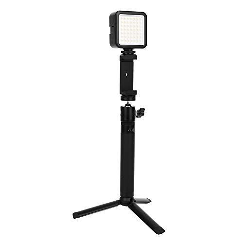 Kit de luz de Panel LED, plástico 160pcs Luz de atenuación Continua de luz LED para cámaras SLR Trípode de videocámara portátil