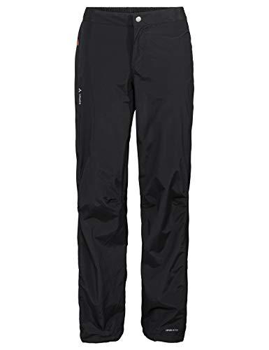 VAUDE Damen Yaras Rain Zip Pants III Regenhose zum Radfahren, black, 40, 414470100400