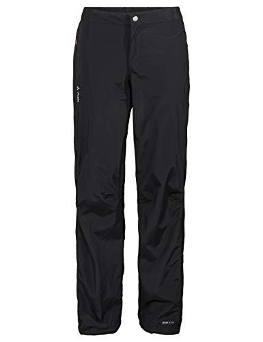 VAUDE Damen Yaras Rain Zip Pants III Regenhose zum Radfahren, black, 44, 414470100440