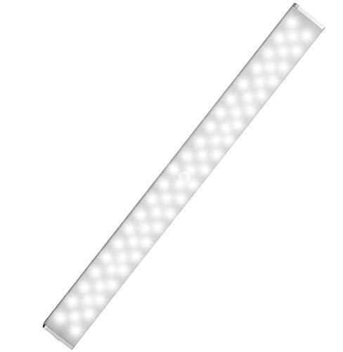 LOFTER LED Closet Light , Rechargeable 62-LED Cabinet Lights Wireless Under Cabinet Light for Closet , Cabinet , Wardrobe , Motion Sensor Closet Light with 2 Sensor Mode (ONLY Motion, Motion & Light)
