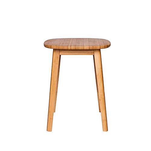Oupai Tavolini bambù Sala Mobilia Sgabello/Tavolino, Sgabello Toeletta, Materiale di bambù, Qualsiasi Combinazione per Soggiorno Camera da Letto (Color : Bamboo, Size : 13.18 * 13.18 * 16.53in)