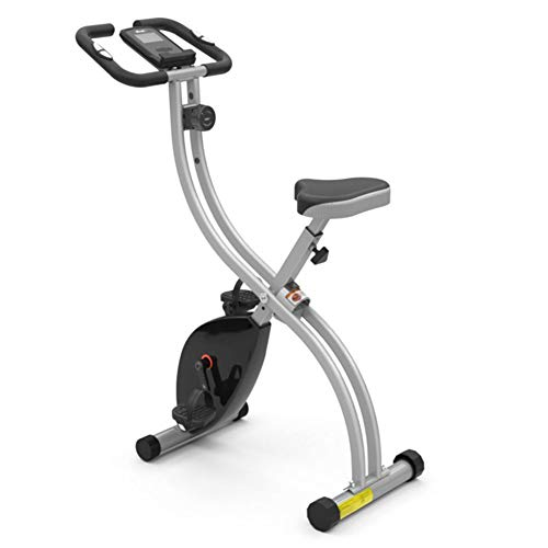 Folding Magnetic Exercise Bike, Upright and Recumbent Stationary Bike, 3 in 1 Cycling Indoor Trainer, 7-Speed Lift Seat, for Men Women and Seniors