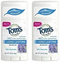 Tom's Of Maine Long Lasting Deodorant Stick, Lavender, 2.25 Ounce (Pack of 2)