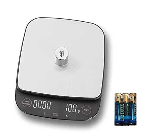 iitrust Balance Cuisine Electronique Balance de Précision, 3kg/0.1g, Balance de Alimentaire multifonctionnel avec fonction de minuterie, Smart Digital Balance,Acier Inoxydable Tactile Sensible Écran