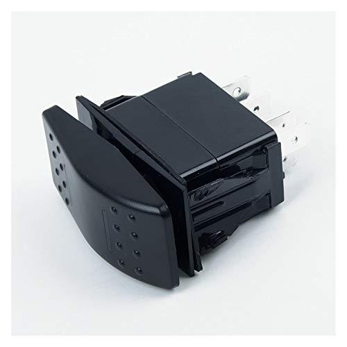 Yanqhua Interruptor basculante 7pin Rocker Switch DPDT On-Off-On 2 LED Marine Auto Universal 12 / 24V Azul 24V DPDT Cambio de Rocker Barco Marino Accesorios de yate