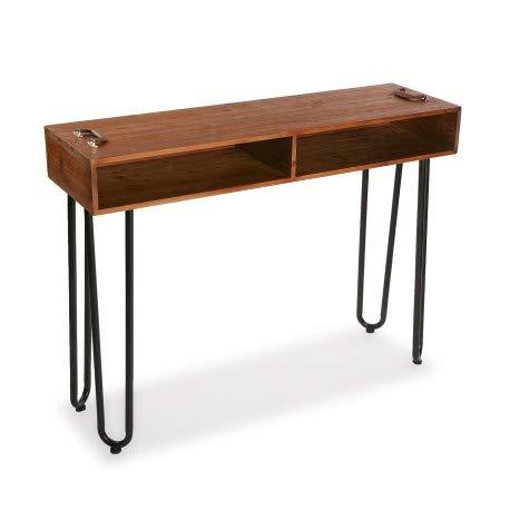 Malak bijzettafel, 2 ruimtes, hout, bruin 120x35x90 cm