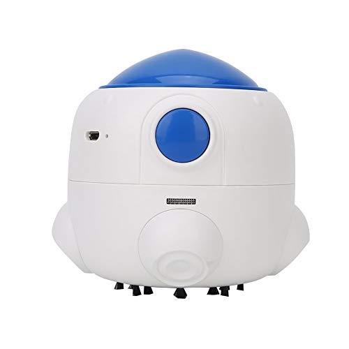 AMONIDA Aspirador portátil, Aspirador, Práctico ABS Eficiente 720Mah Portátil para Limpiar el Polvo de Escritorio(White)