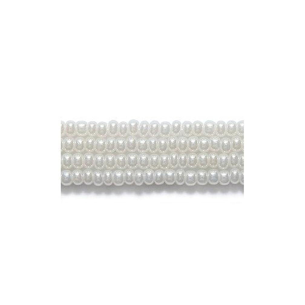 Preciosa Ornela Czech Seed Bead, Pearl Off White, Size 10/0