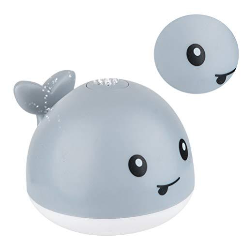 Tomaibaby 1Pc Wal Baby Bad Spielzeug Wal Automatische Induktion Spray Wasserspielzeug mit LED Licht Badewanne Spielzeug für Kleinkinder
