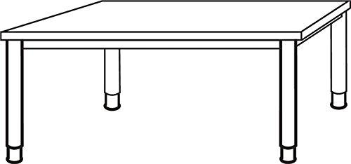 Hammerbacher Schreibtisch HS16 grau/alu