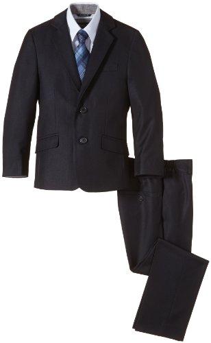 G.O.L. Jungen Bekleidungsset 4-tlg. Anzug, bestehend aus Sakko, Hose, Hemd, Krawatte, Gr. 134, Blau (navy 1)