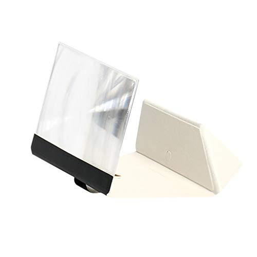 10 Zoll Ledertasche 3D Handy Bildschirm VerstäRker Universal Handy Stehen Handy Bildschirm VerstäRker, Kompatibel Mit Iphone/Samsung/Huawei/Android