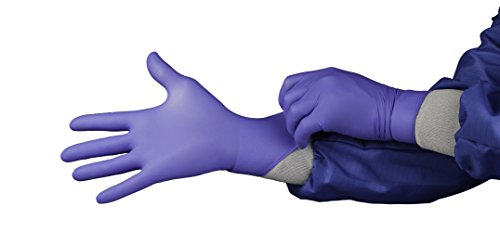 HandPRO Series 1750 Nitrile Ambidextrous Controlled Environment Glove, Powder Free, 240mm Length, Medium, Blue (Pack of 1000)