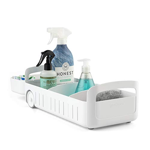 """YouCopia RollOut Caddy Under Sink Organizer, 8"""" Wide, White"""