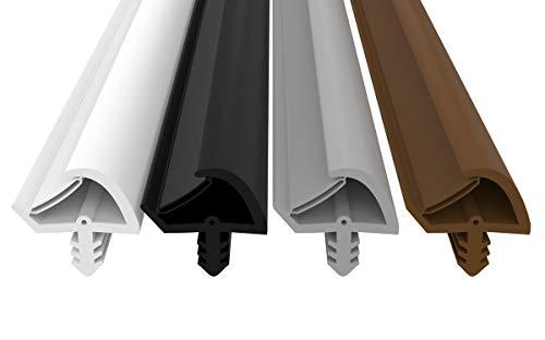 Junta de puerta antiestiramiento, 3 mm de ancho, 7 mm de profundidad de ranura, 12 mm de ancho de pliegue, montaje rápido, junta de goma de alta calidad para puerta de casa, Marrón