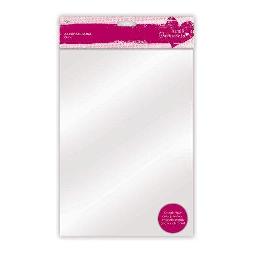Papermania - Fogli A4 in plastica, ideali per realizzare decorazioni, colore: Trasparente, confezione da 10 pezzi