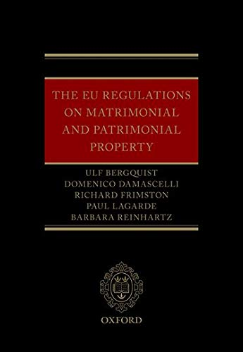 Bergquist, U: EU Regulations on Matrimonial and Patrimonial