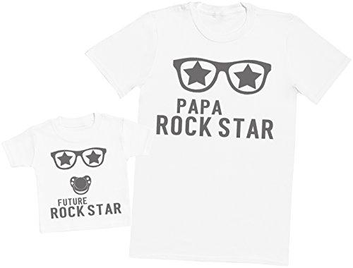 Future Rock Star garçon - Ensemble Père Bébé Cadeau - Blanc - M & 2-3 Ans
